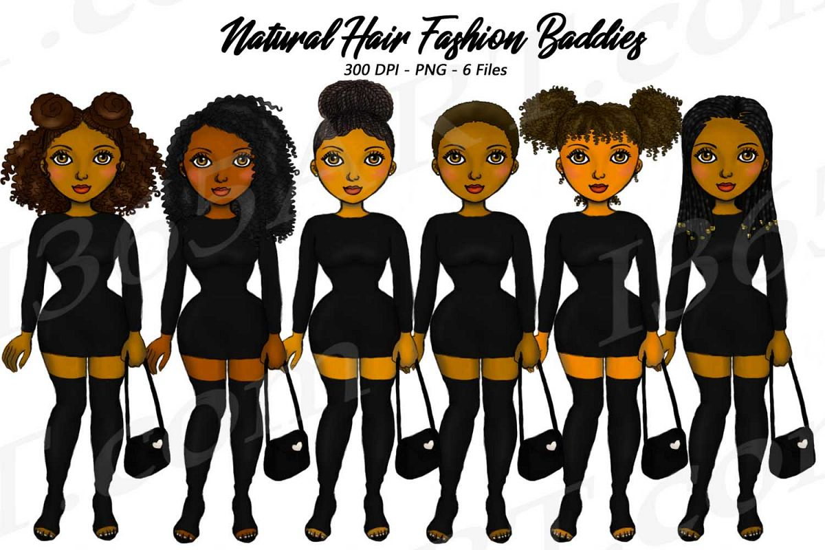 City girl clipart clip free library City Fashion Baddie Clipart, Black Girls, Natural Hair clip free library