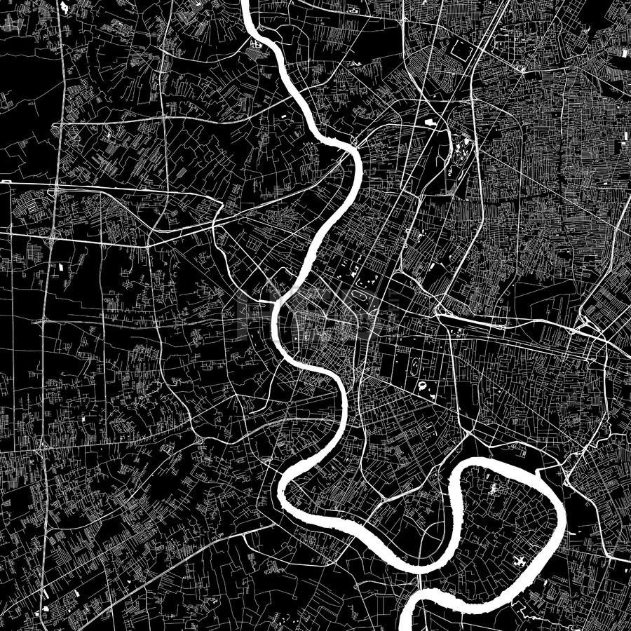 City map clipart black and white madrid image transparent stock Bangkok Thailand Download PDF Map | art | Bangkok thailand, Map ... image transparent stock