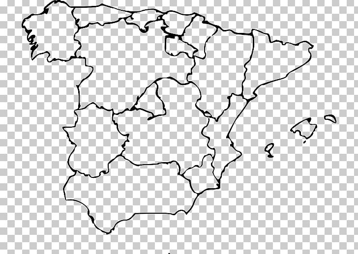 City map clipart black and white madrid clip freeuse download Autonomous Communities Of Spain Blank Map World Map PNG, Clipart ... clip freeuse download
