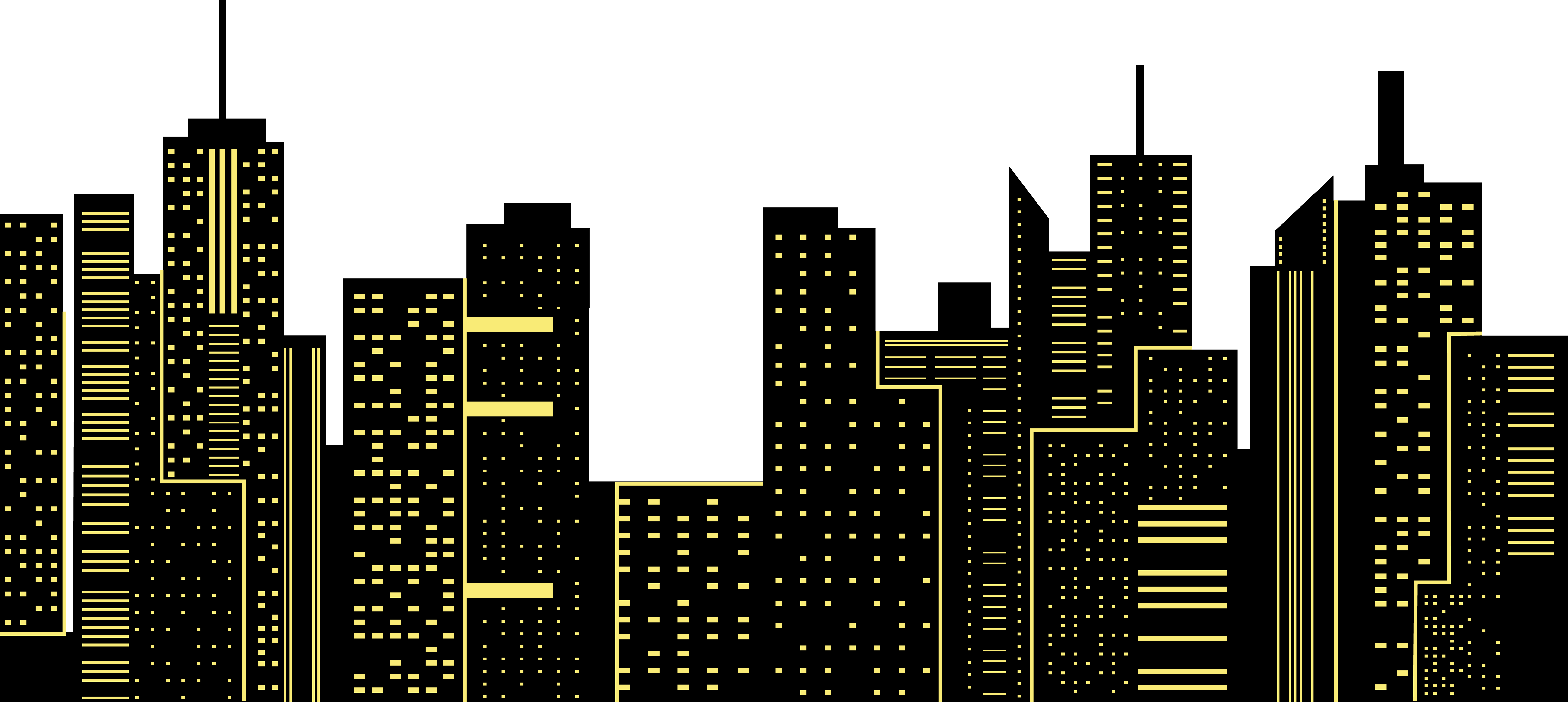 Library of city night skyline svg royalty free library png ...