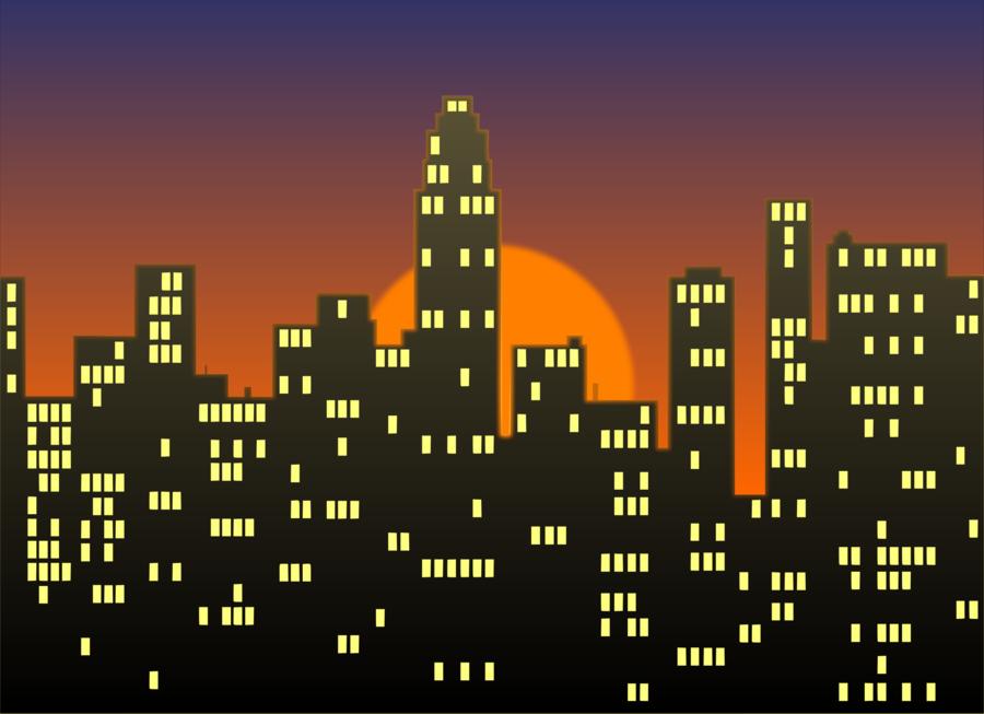 City night skyline clipart graphic free City Skyline clipart - Skyline, City, Text, transparent clip art graphic free