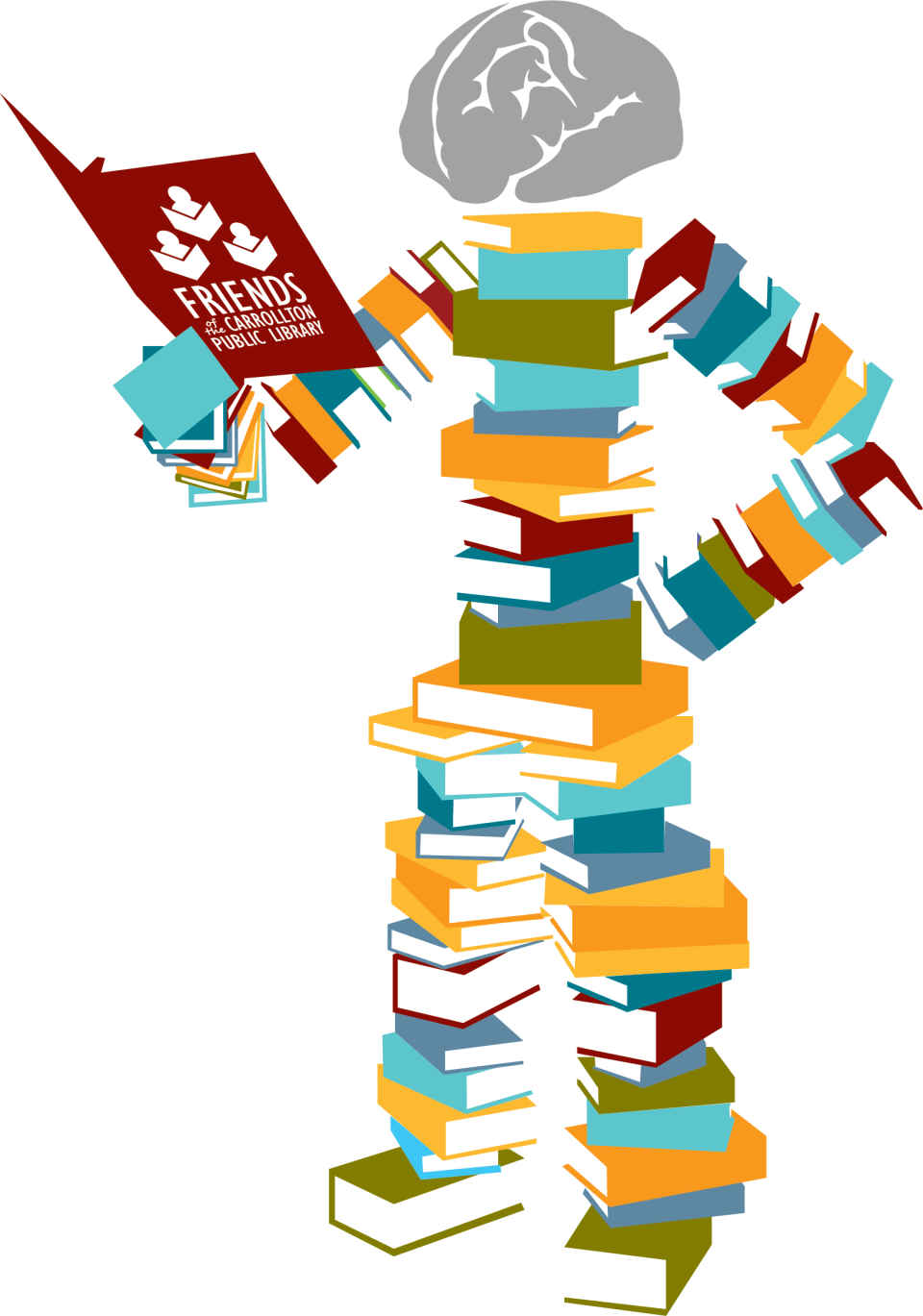 Library book return clipart svg royalty free stock Celebrate National Library Week April 8-14 at the Carrollton Public ... svg royalty free stock