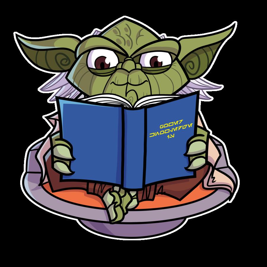City reading book clipart svg black and white library Joe Hogan strikes again! Commish - Reading Yoda Loves by JoeHoganArt ... svg black and white library