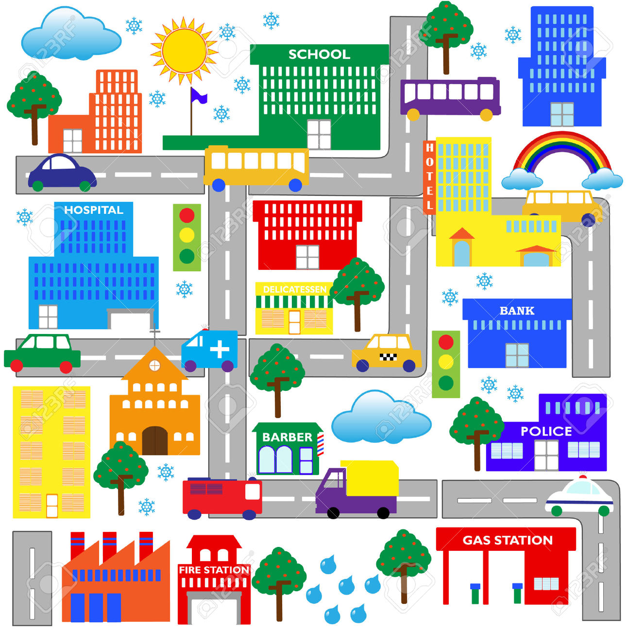 City road map clipart vector stock City road map clipart - ClipartFest vector stock
