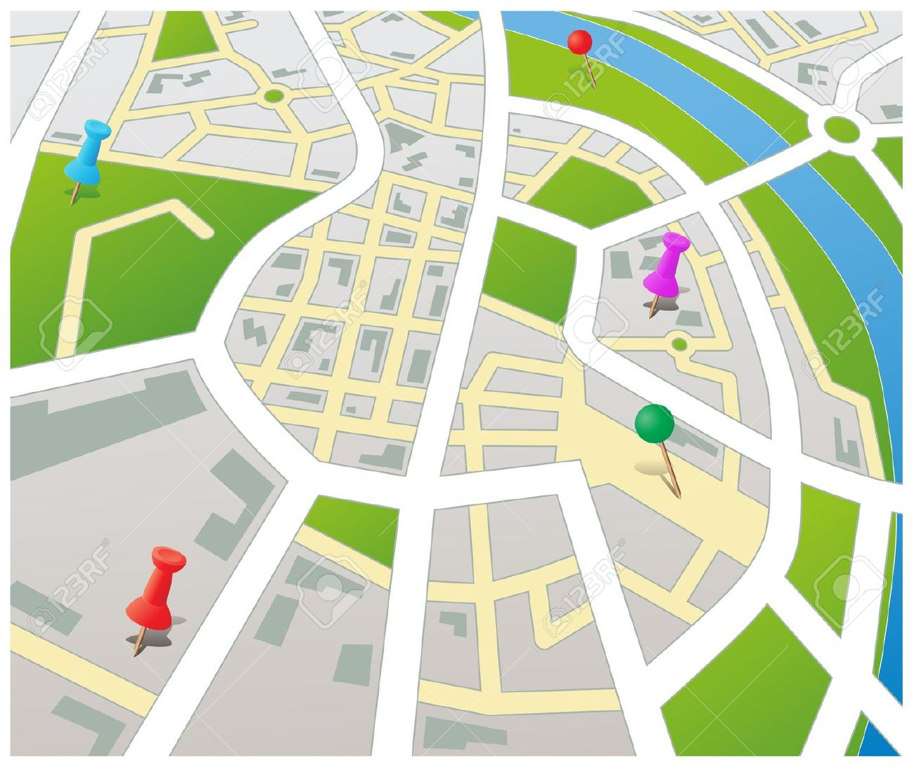 City road map clipart clipart library download City road map clipart - ClipartFest clipart library download