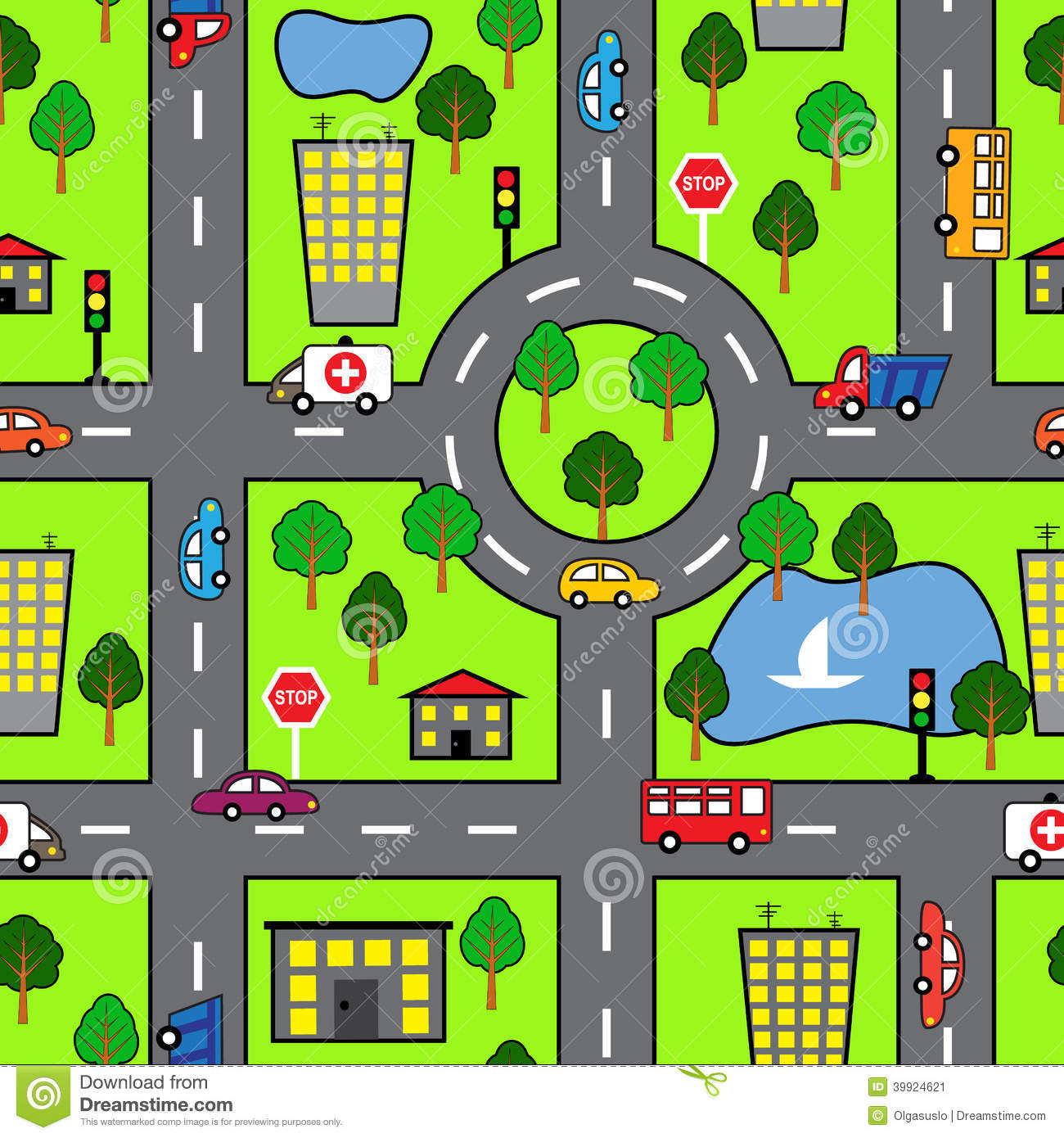 City road map clipart jpg free library City road map clipart - ClipartFest jpg free library