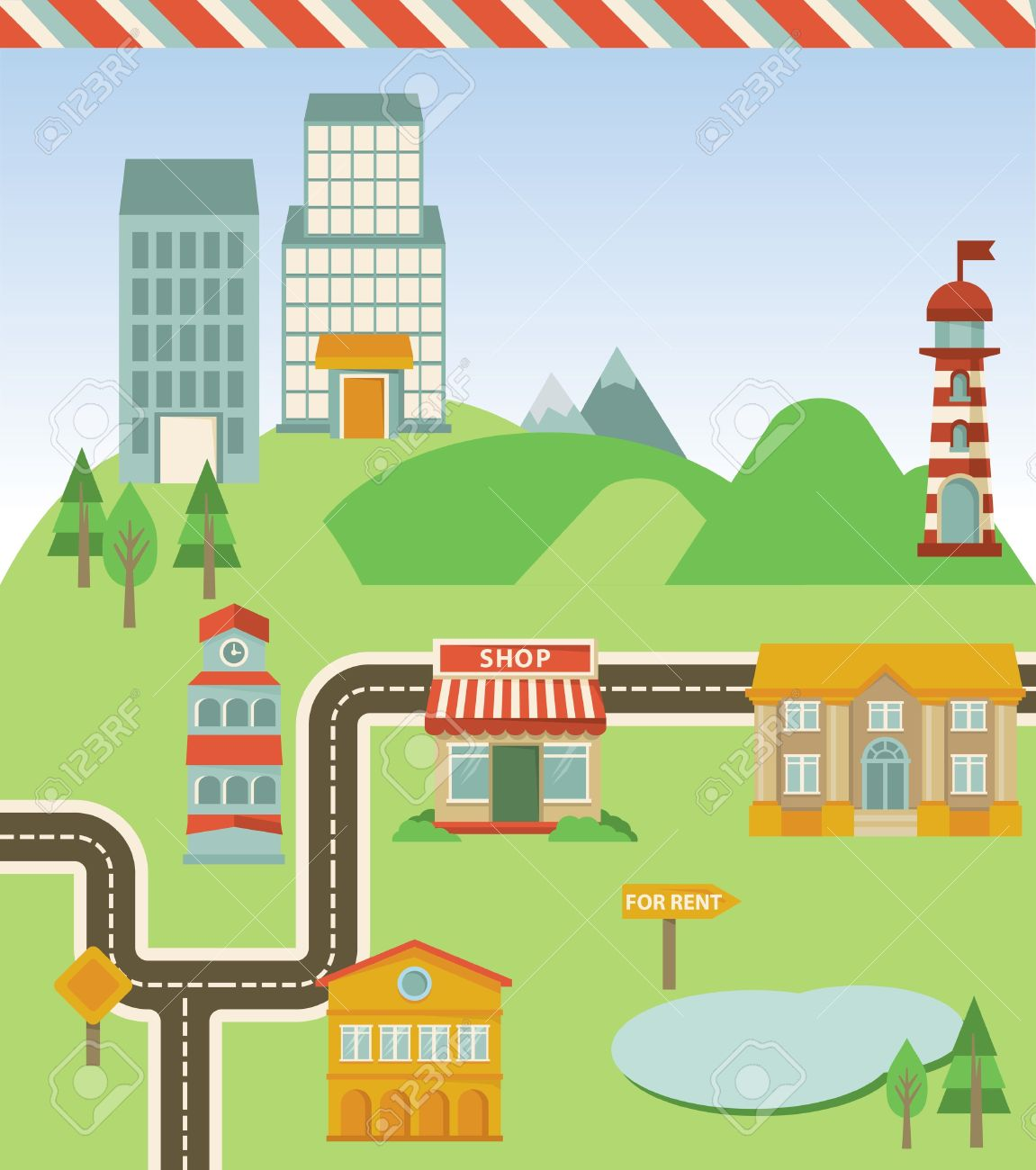 City road map clipart clipart transparent library City road map clipart - ClipartFest clipart transparent library