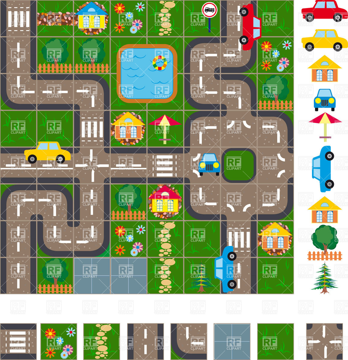 City road map clipart picture black and white City Map Clipart - Clipart Kid picture black and white