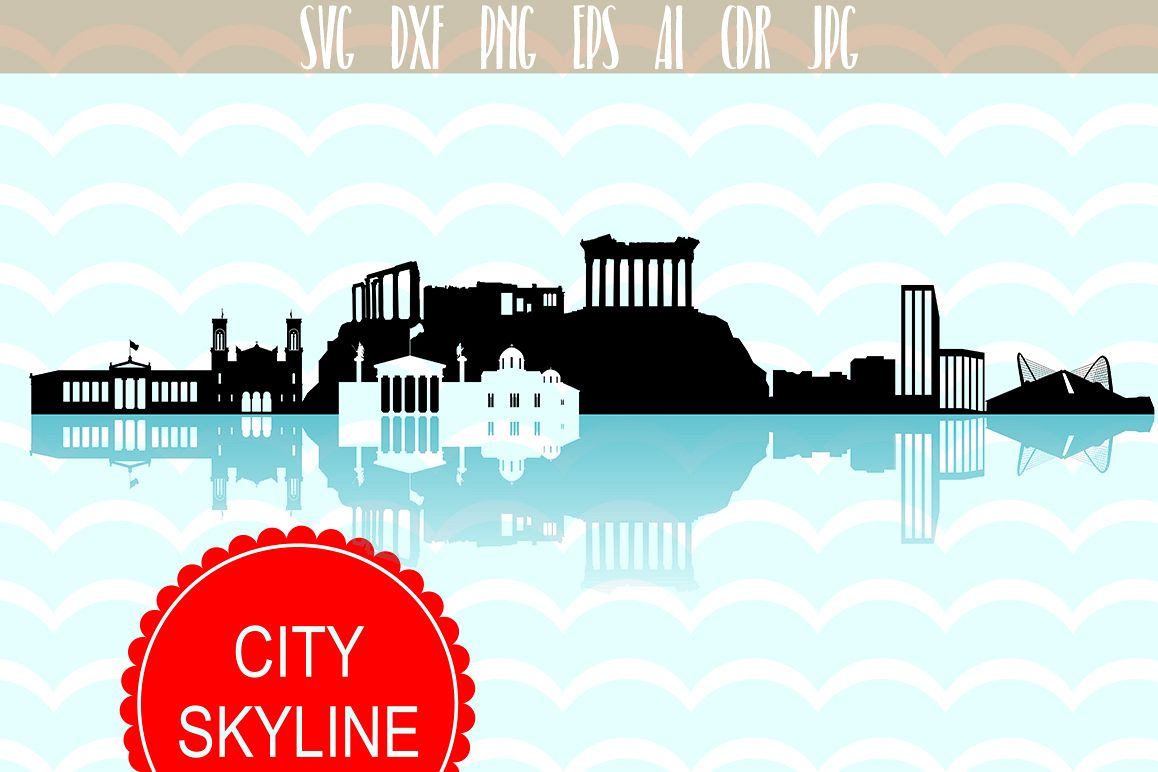 City vector clipart royalty free library Athens Skyline SVG, Greece city vector, Athens city Illustration, Svg, Dxf,  Eps, Ai, Cdr files clip art royalty free library