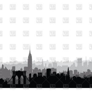 City vector clipart vector royalty free download New York Usa Skyline Nyc City Silhouette Vector Clipart | CQRecords vector royalty free download