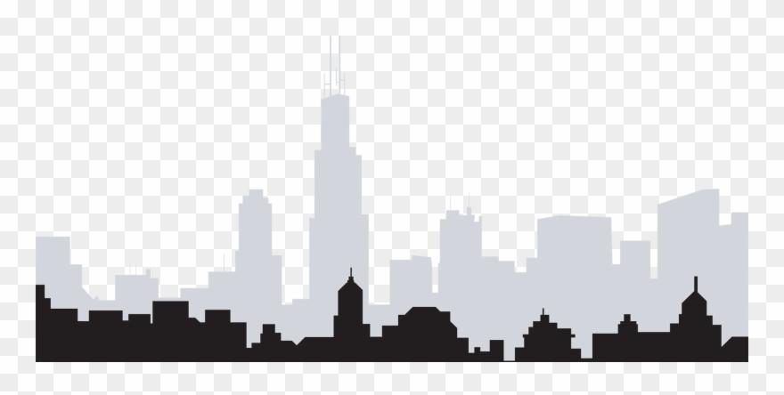 Cityscape clipart black backround picture stock Cityscape Transparent Skyline Chicago - Chicago Skyline No ... picture stock