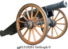 Civil war artillery clipart jpg freeuse library Cannon Clip Art - Royalty Free - GoGraph jpg freeuse library