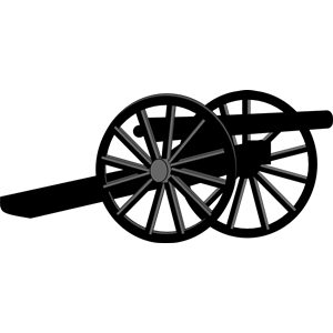 Civil war artillery clipart svg transparent library Civil War Cannon clipart, cliparts of Civil War Cannon free download ... svg transparent library