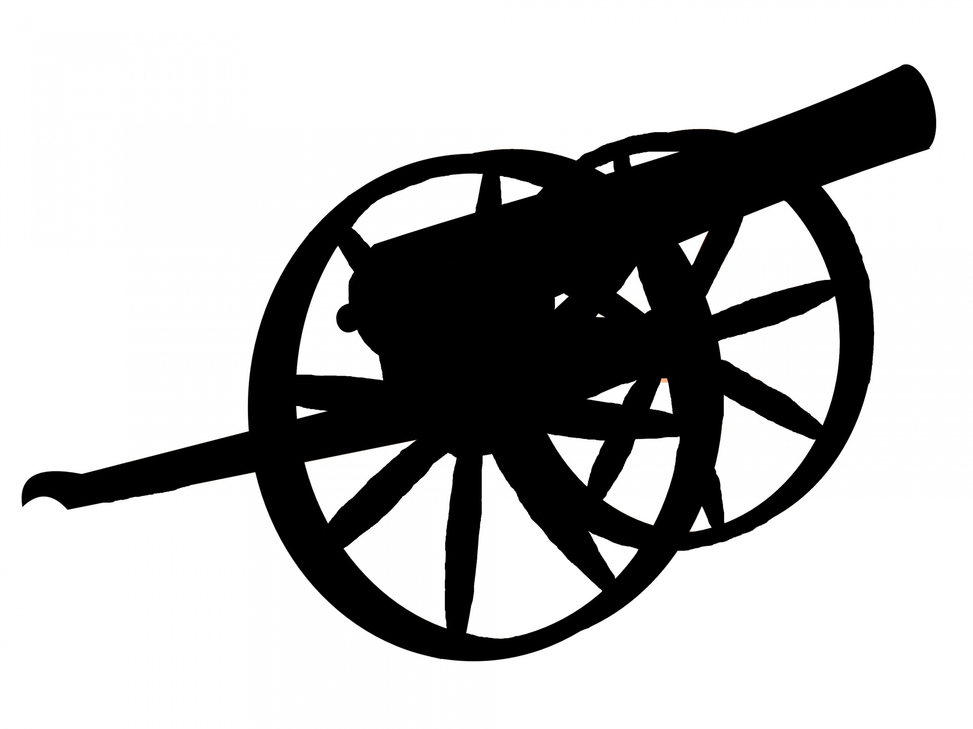 Civil war artillery clipart svg royalty free stock Silhouette,outline,shadow,clip art,j r libby - free photo from ... svg royalty free stock