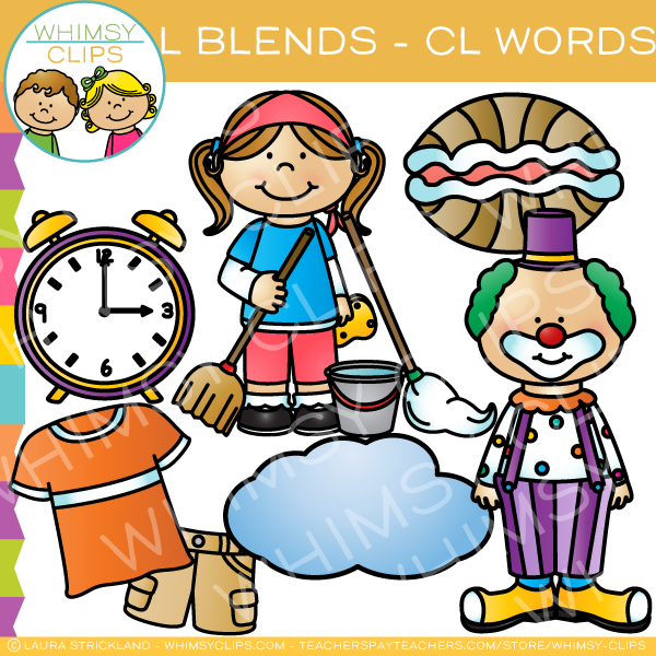 Cl clipart banner free stock L Blends Clip Art - CL Words - Volume One banner free stock