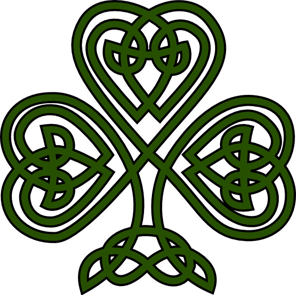 Clipart celtic designs transparent download Free Irish Fonts | Celtic Shamrock clip art - vector clip art online ... transparent download