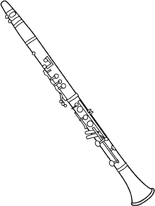 Musical instruments clipart black and white oboe freeuse library Clarinet clip art | Band in 2019 | Clarinet, Music drawings, Music decor freeuse library
