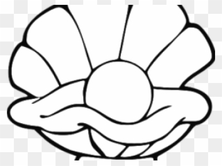 Clam shell with pearl clipart black and white stock Pearl Clipart Clamshell - Colouring Parable Of The Pearl - Png ... black and white stock