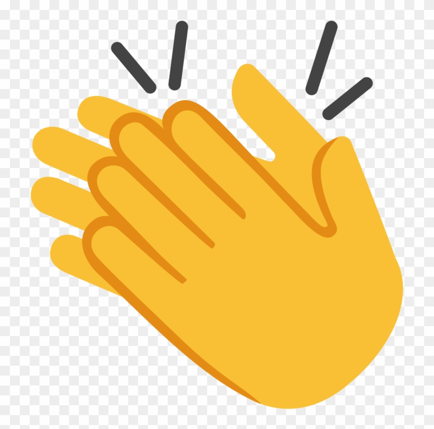 Clap emoji clipart graphic black and white Clapping Hands Emoji Png Graphic Free - Clapping Emoji Clipart ... graphic black and white