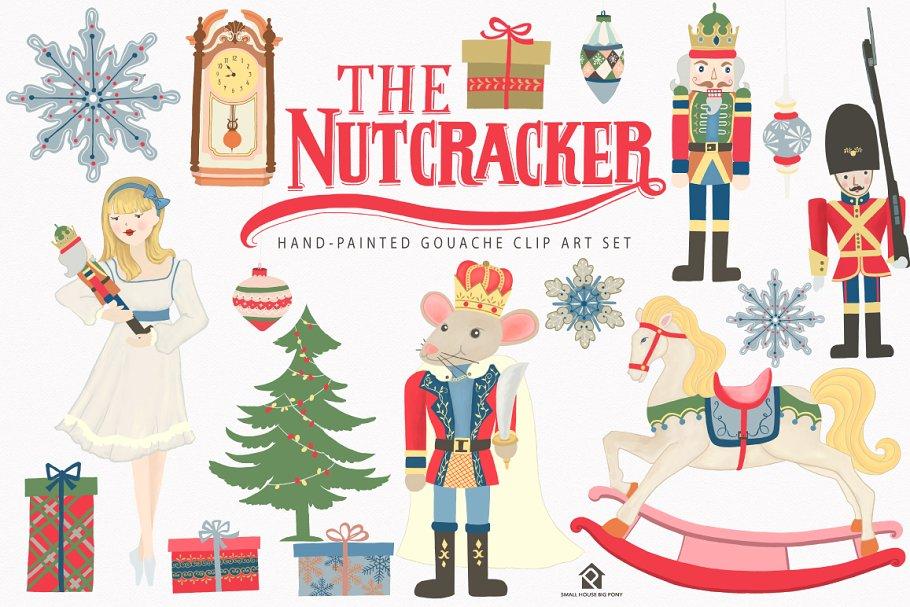 Clara nutcracker clipart clip free The Nutcracker Ballet Clip Art Set ~ Graphics ~ Creative Market clip free