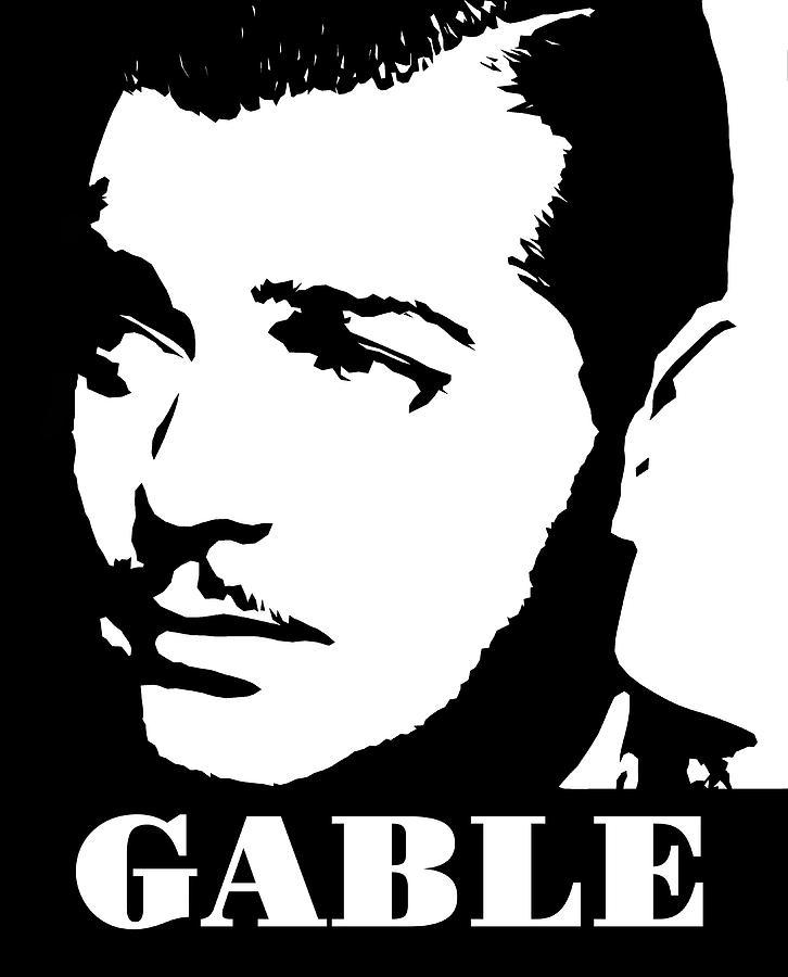 Clark gable clipart clip art library library Clark Gable Black And White Pop Art clip art library library