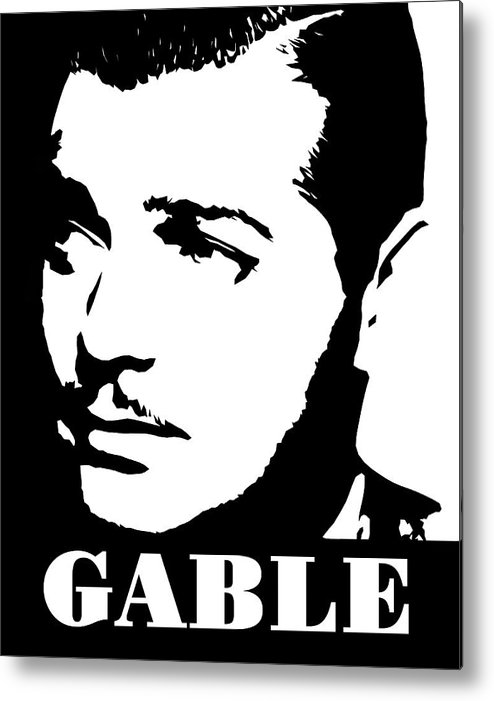 Clark gable clipart image free download Clark Gable Black And White Pop Art Metal Print image free download