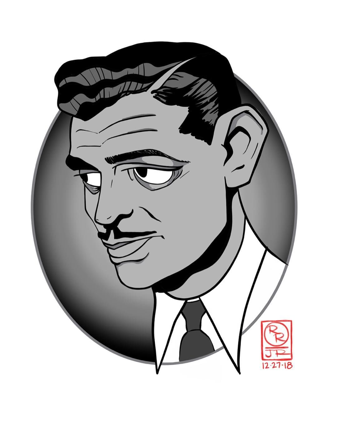 """Clark gable clipart vector royalty free library It Happened One Night"""" 1934 Clark Gable, Claudette Colbert Daily ... vector royalty free library"""
