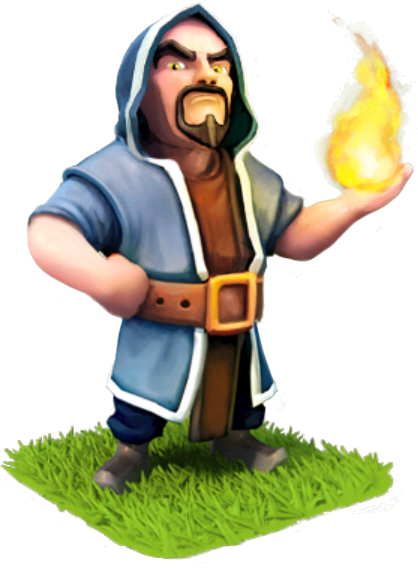 Clash of clans wizard clipart png black and white download Wizard | Clash of Clans Conception Wikia | FANDOM powered by Wikia png black and white download