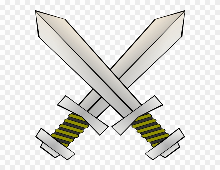 Swords clashed clipart