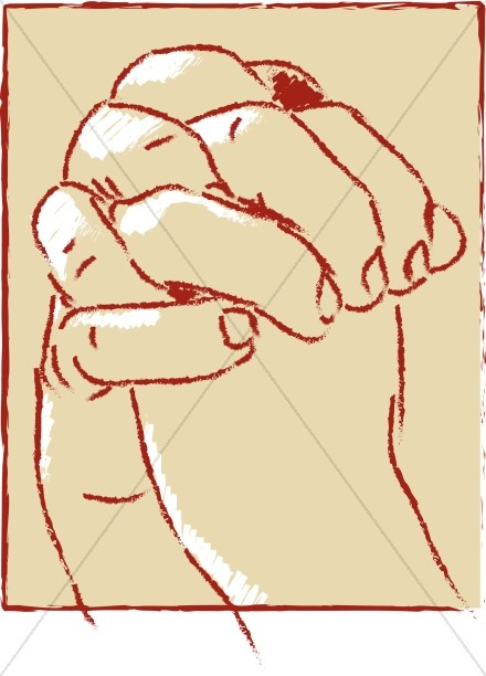 Clasped clipart png transparent library Large Clasped Hands | Prayer Clipart png transparent library