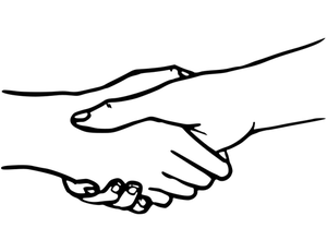 Clipart handshake vector black and white Clasped Hands Drawing | Free download best Clasped Hands Drawing on ... vector black and white