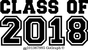 Class 2018 clipart jpg free library Class Of 2018 Clip Art - Royalty Free - GoGraph jpg free library