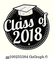 Class 2018 clipart svg royalty free Class Of 2018 Clip Art - Royalty Free - GoGraph svg royalty free
