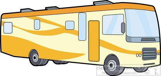 Class a rv clipart image download Recreational Vehicle Clipart Yellow Motor Home Class A Clipart ... image download