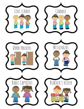 Class helpers clipart freeuse download Classroom Job Clipart Worksheets & Teaching Resources | TpT freeuse download