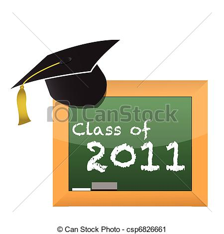 Class of 2011 clipart clipart black and white stock Vector Clipart of Class of 2011 College High School Graduation Cap ... clipart black and white stock