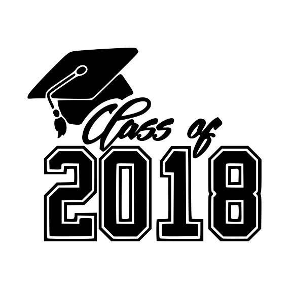 Class of 2018 black and white clipart svg royalty free Hall High School - Hall High School Class of 2018 Graduation Ceremony svg royalty free