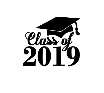 Graduating class of 2017 free clipart black background jpg transparent Class of 2019 Graduation instant download cut file for cutting ... jpg transparent