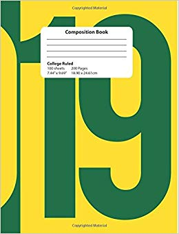 Class of 2019 clipart green and yellow image black and white library Composition Book: 2019 Green and Yellow Composition Notebook College ... image black and white library