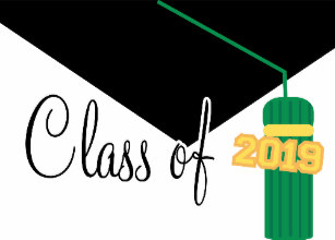 Class of 2019 clipart green and yellow image transparent stock Senior Class Gift Bags | Zazzle image transparent stock