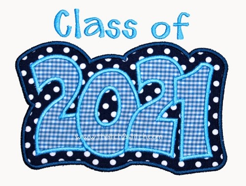 Class of 2021 clipart clip art freeuse library Class of 2021 applique clip art freeuse library