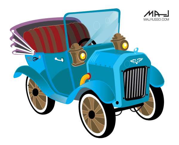Classic car and new car picture clipart png stock Free Vintage Car Vector Art | 123Freevectors png stock