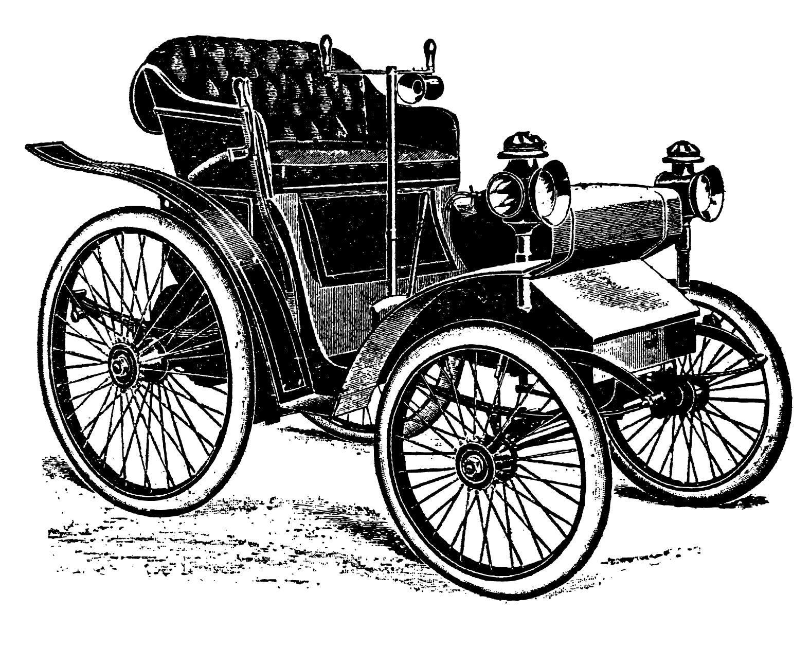 Classic car and new car picture clipart image black and white library Free clipart of the first car - ClipartFox image black and white library