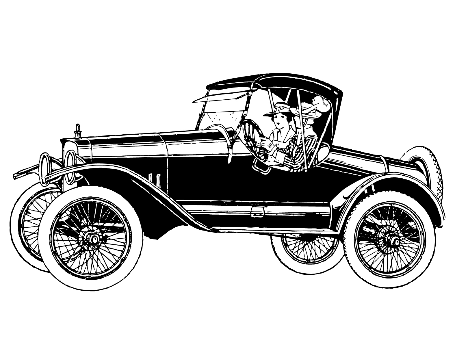 Classic car and new car picture clipart jpg black and white Classic car and new car picture clipart - ClipartFest jpg black and white