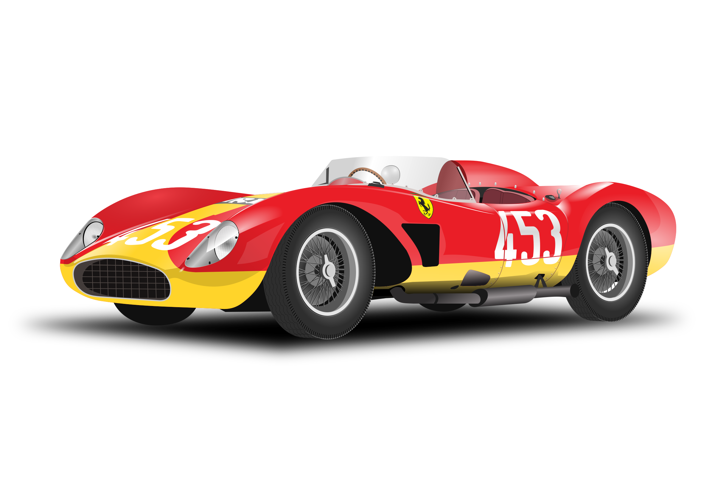 Classic car clipart graphic royalty free stock Ferrari Clipart race car - Free Clipart on Dumielauxepices.net graphic royalty free stock