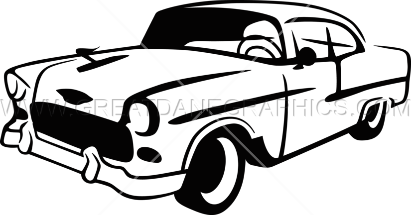 Classic car clipart black and white picture library stock Vintage Car | Production Ready Artwork for T-Shirt Printing picture library stock