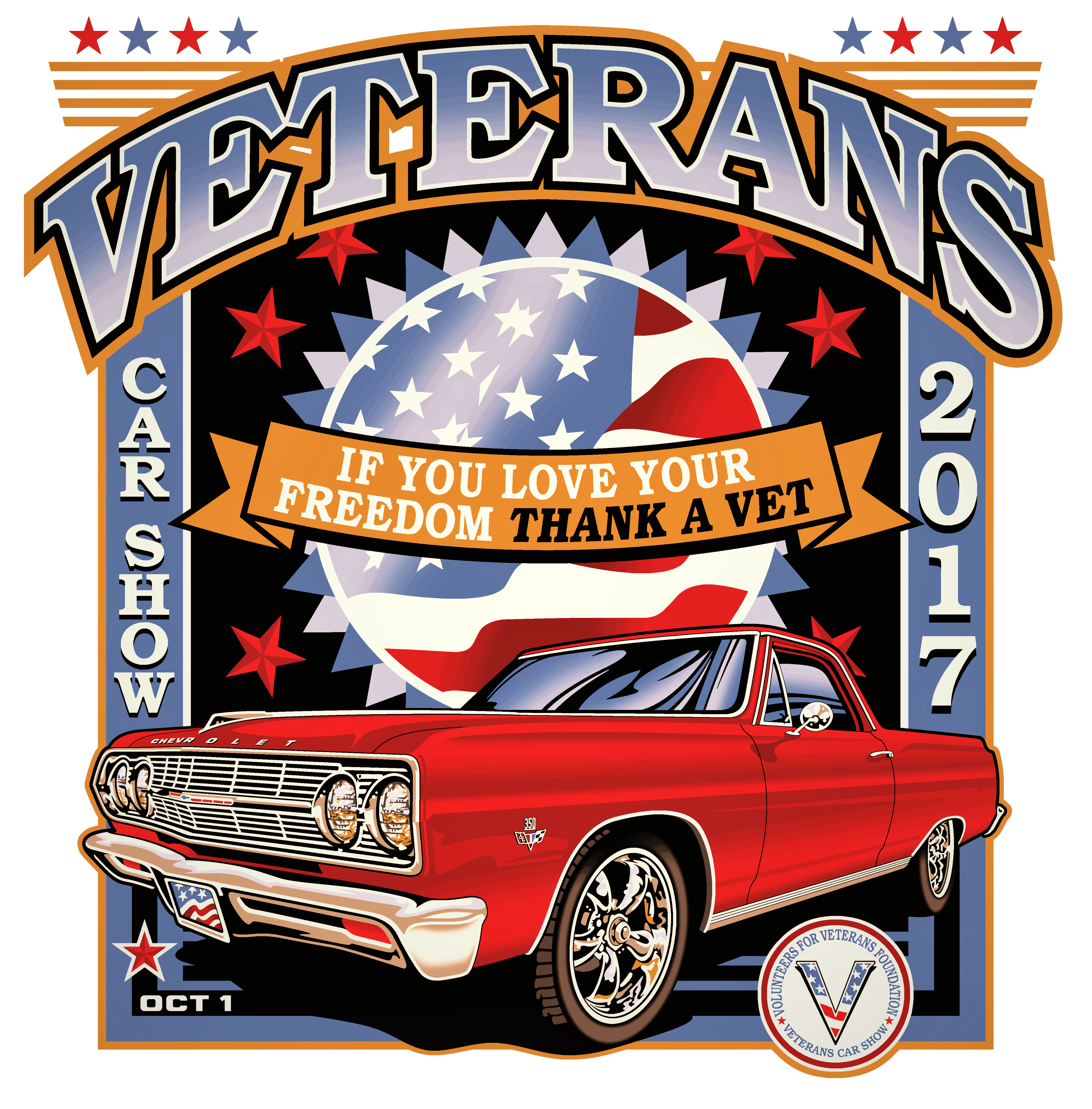 Classic car show clipart clip art free stock Volunteers for Veterans Foundation | Car Show Programs clip art free stock