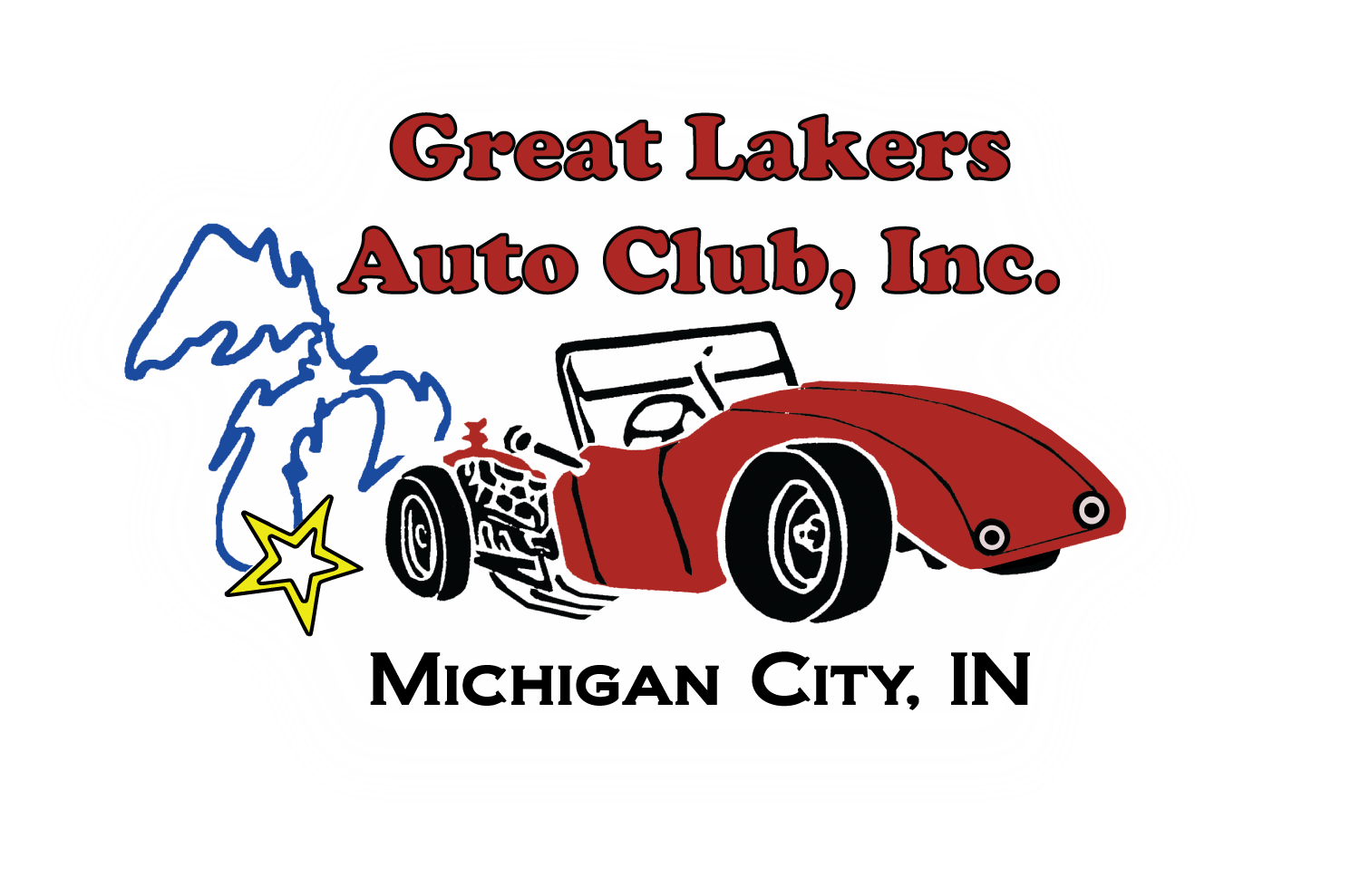 Classic car show clipart banner black and white stock Great Lakers Auto Club, Inc. banner black and white stock