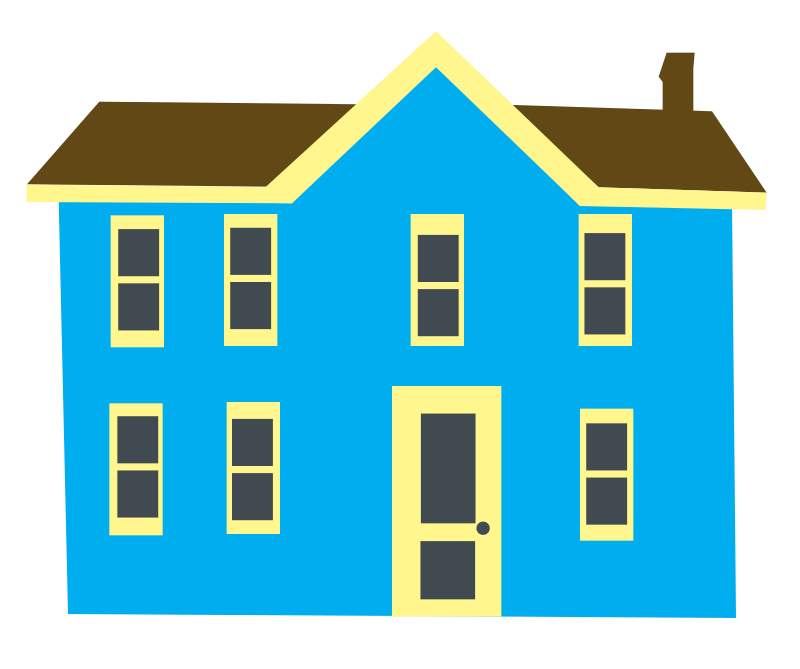 Prairie house clipart stock 28+ Collection of Blue House Clipart | High quality, free cliparts ... stock