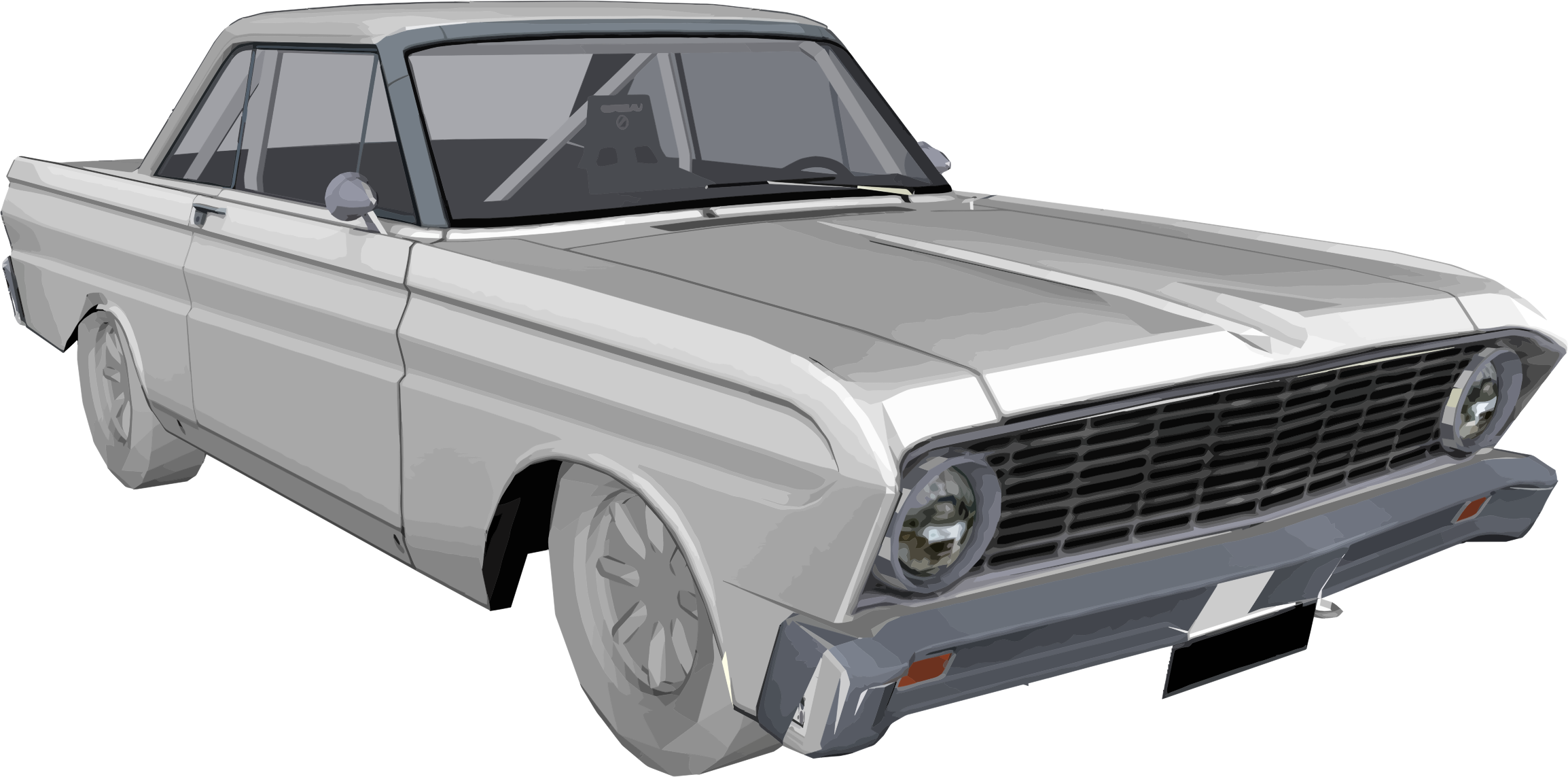 Muscle car clipart clip black and white download Clipart - Ford Falcon clip black and white download